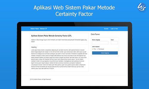 Aplikasi Web Sistem Pakar Metode Certainty Factor Webme Studio Sistem Pakar Aplikasi Web Aplikasi