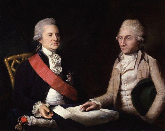 by Lemuel Francis Abbott.George Macartney, 1st Earl Macartney and Sir George Staunton, 1st Baronet
