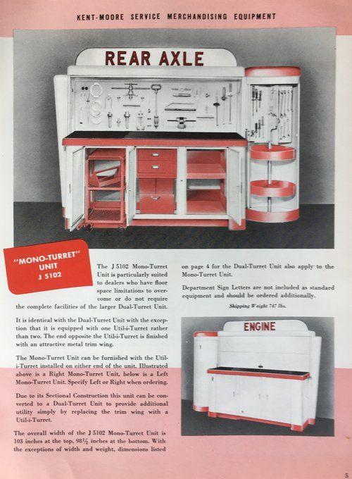 Kent Moore Service Merchandisers 1940 S 50 S Sliding Cabinet Doors Shop Tool Boxes Tool Stands