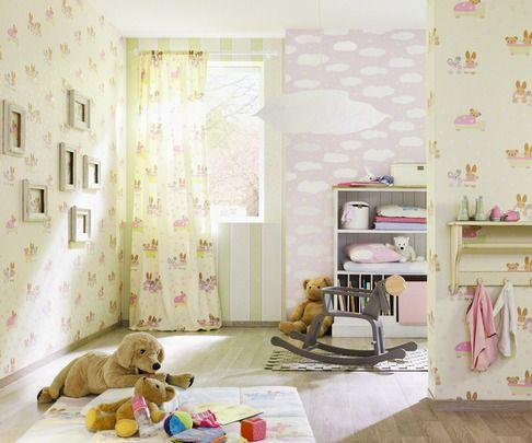 Papel Pintado Rasch Bambino 140118.¡Ideas para decorar la habitación de sus hijos por menos de 30 EUROS! Ideales tanto para los cuartos de niños como para las habitaciones de niñas.