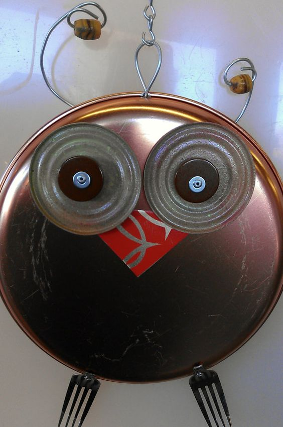 Recycled Metal Owl
