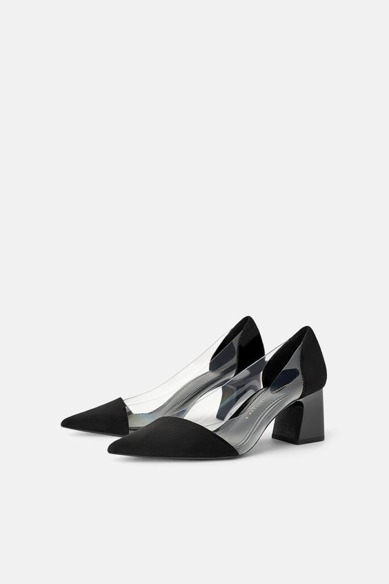 Vinyl High Heel Shoes View All Shoes Woman Zara Australia Heels Black High Heels Shoes Black High Heels