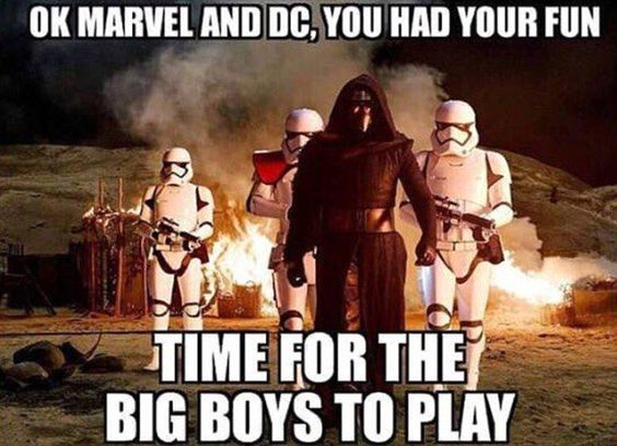 Comic books Marvel and DC have dominated the movie business in recent years - now its return of the Star Wars empire