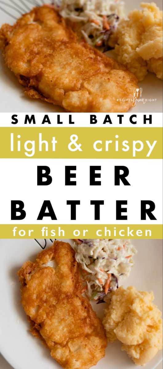 Small Batch Beer Batter Recipes Dunn Right Recipe In 2021 Beer Batter Fried Chicken Recipe Fish Recipes Healthy Fish Batter Recipe