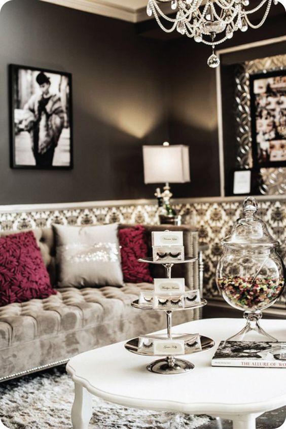 Glam Bedroom Decor Chic, Glam Salon Decor, Glam Rooms, Vintage Glam Salon,  Glam Style Decor, Living Room Decor Glam, Vintage Glam Decor, Salon Decor  Studio, ... - Lashfully :: Newport Beach & Beverly Hills :: Hollywood Sofa And