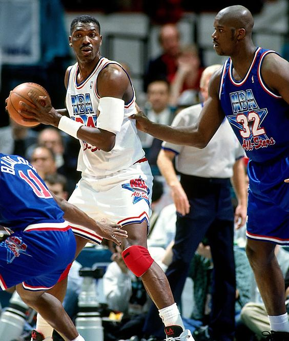 Houston Rockets Dream Shake: Hakeem Olajuwon Shaquille O'Neal NBA All-Star Game