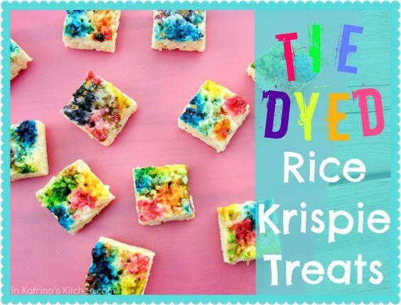 tie dyed rice krispies