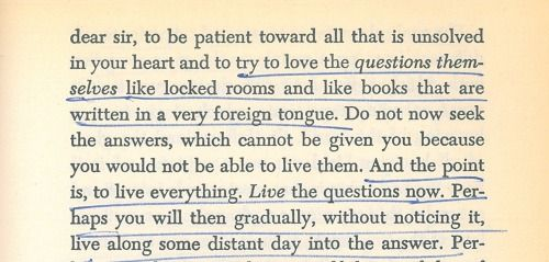 Letters to a Young Poet by Rainer Maria Rilke, page 35.: