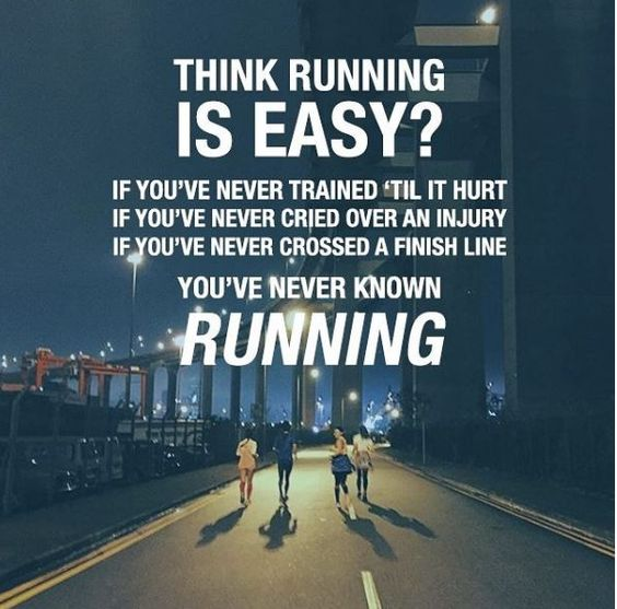 Running. It pains me to continue but it hurts me much worse to stop
