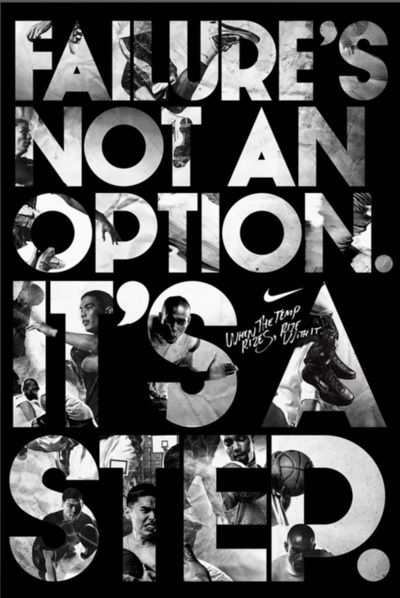 it's a step: Nike Quotes, Motivational Quote, Fitness Quote, Option It S, Workout Motivation, Failure S, So True, Fitness Motivation