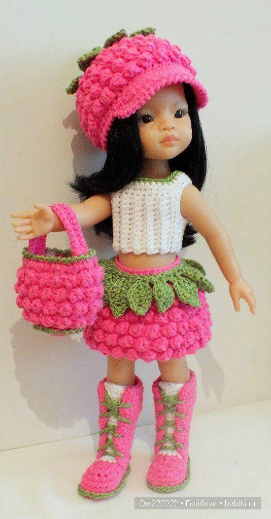 """Комплект """" Ягодка """" / Одежда для кукол / Шопик. Продать купить куклу / Бэйбики. Куклы фото. Одежда для кукол"""