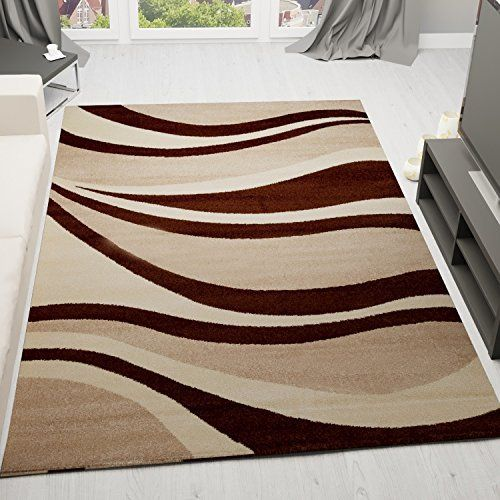 velours poils ras tapis moderne bon rapport qualit prix marron beige livraison expresse. Black Bedroom Furniture Sets. Home Design Ideas