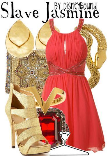 "Disney Princess ""Slave Jasmine - Aladdin""-inspired outfit.   Disney Bound."