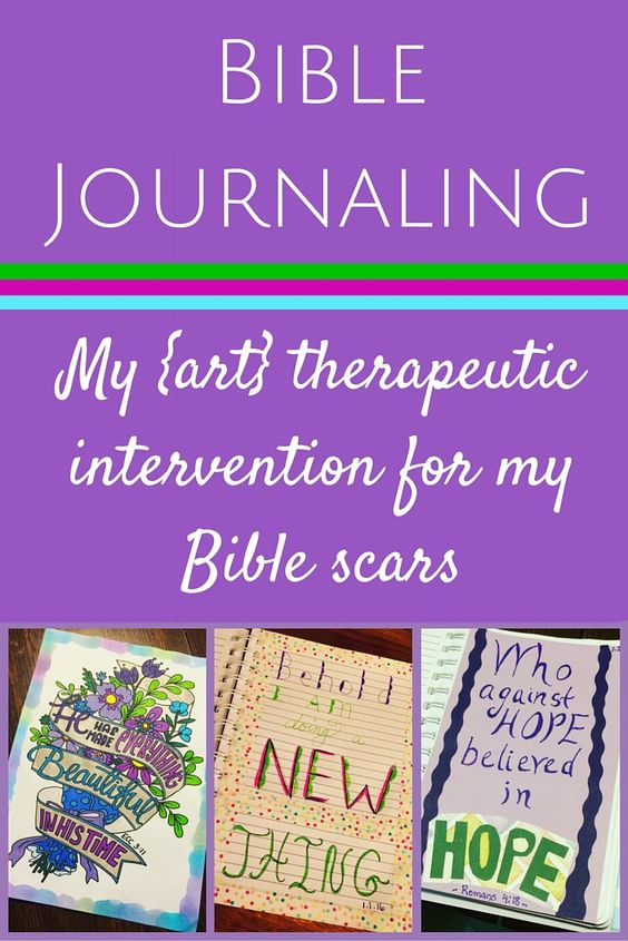 My {art} therapeutic intervention for my Bible scars ~ Bible Journaling