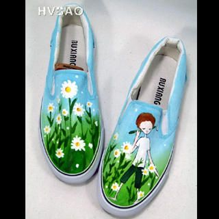 """""""Strolling among Flowers"""" Canvas Slip-Ons from #YesStyle <3 HVBAO YesStyle.com"""