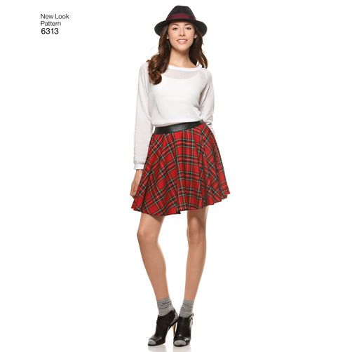 New Look Pattern 6313 Misses' Skirts with Length Variations: