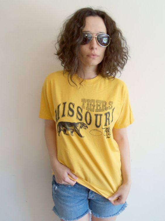 Vintage Yellow University of Missouri Tigers by FunkyOldSoul