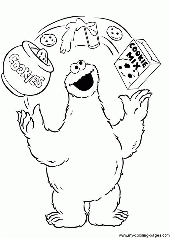 c is for cookie printable coloring pages - photo #42