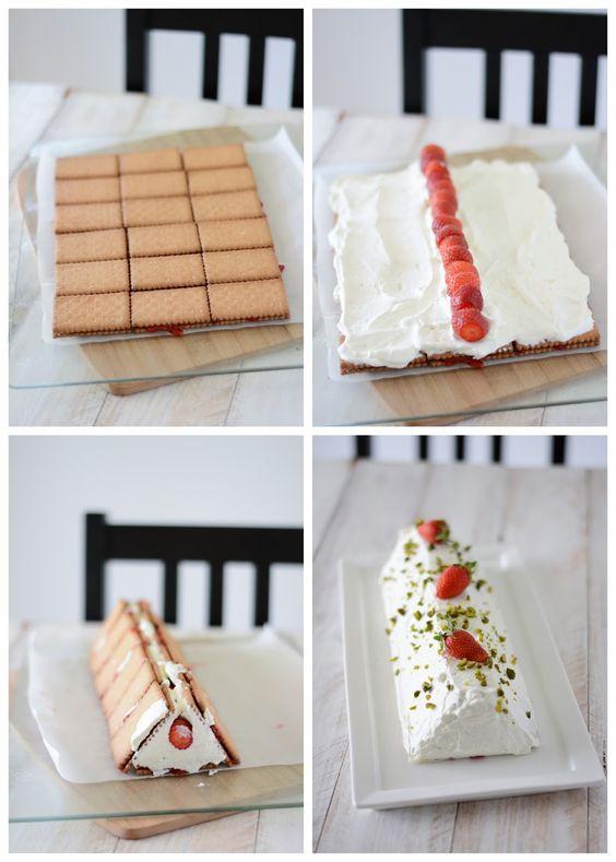 Chic, chic, chocolat...: Gâteau rigolo aux fraises