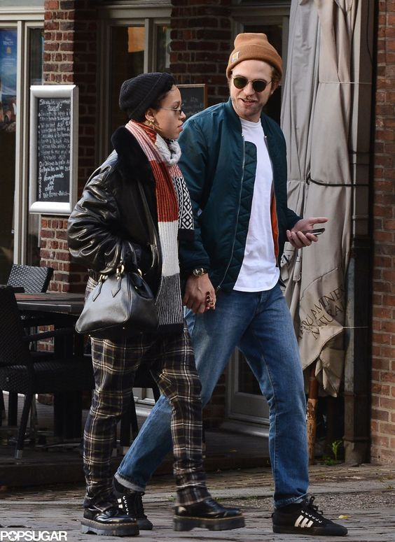 Robert Pattinson and FKA twigs hand holding in Brussels (Oct. 16, 2014). This photo makes me so happy.