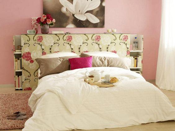 Schlafzimmerwand gestalten - Wanddeko hinter dem Bett Wohnung