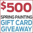 Enter The Family Handyman $500.00 Spring Painting Gift Card Giveaway once a day through April 30, 2014! You could win a $500 gift card to The Home Depot, Ace Hardware, or Lowes. Enter now for your chance to win and get rolling!