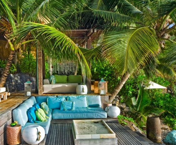 Turquoise House Deck And Decks On Pinterest