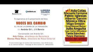 Presentación de 'Voces del cambio' en Barcelona.