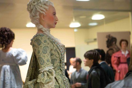 """""""Manon Lescaut"""" stage costume, designed by Adolf Hohenstein, 1893, from the """"PrimeDonne - le donne di Puccini"""" exhibit at Milan's Centro Diagnostico Italiano."""