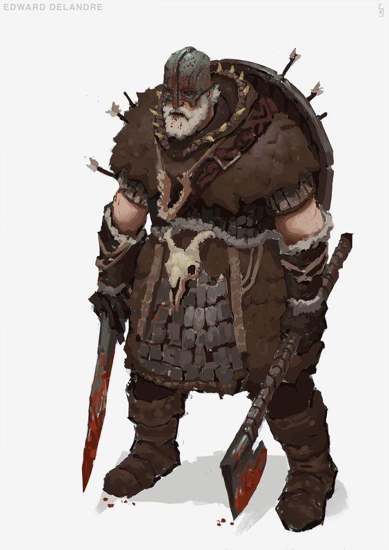 ArtStation - Character design challenge - viking, Edward Delandre