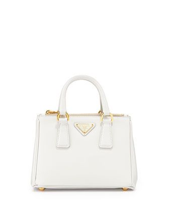 red purse with studs - Prada Saffiano Mini Galleria Crossbody Bag, White (Talco), Women's ...