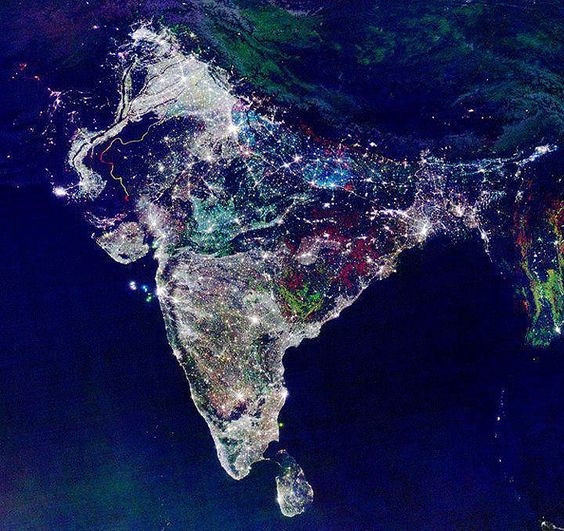 A NASA Satellite photo over India, as the festival of lights begins. Diwali, the Hindu festival of lights, stretches beyond India, a five-day holiday encompassing multiple stories from around the world, involving Hindus, some Buddhists, Sikhs and Jains. For India, however, where roughly 80 percent of the population practices Hinduism, Diwali 2011 is and will be a massive and deeply Hindu affair, one involving dancing, shows, religious worship and lots of fireworks. (NASA)