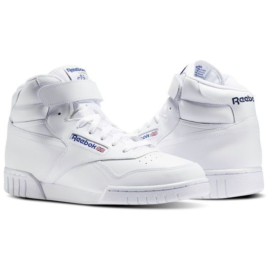 Reebok Shoes Men's EX O FIT HI in White Size 3.5 Lifestyle