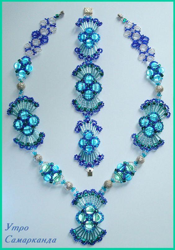 "Set of ""The Morning of Samarkand"" - 1.  Repin via I'm Loving Beads."