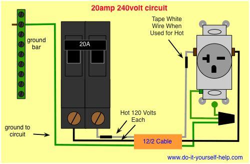 Wiring Diagram 20 Amp 240 Volt Circuit