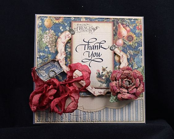 Here is an absolutely gorgeous card made by Sherry Cheever using Thank You from the new #Quietfire Floral Thank You set.  I'd say this is certainly floral!