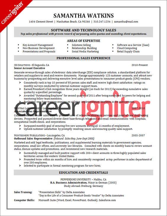 sales resume skills at ProvenResumes Misc Pinterest - sales support resume