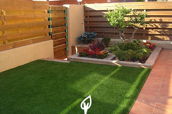 Decora tu jard n o terraza con c sped artificial cesped for Jardines pequenos con cesped