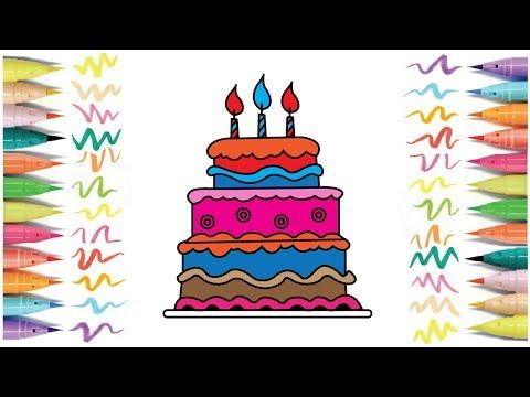Bithday Cake Drawing For Kids Cake Drawing Drawing For Kids