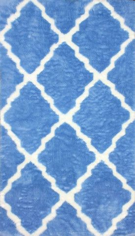 nuLOOM Blue 5' x 8' Beatrice Faux Sheepskin|Contemporary Rugs