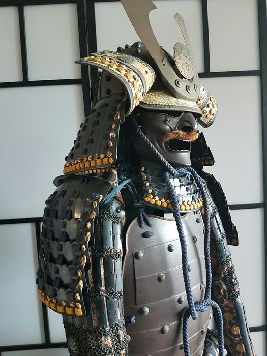 Original Japanese Samurai armour from the Showa period - Catawiki | Samurai  armor, Samurai helmet, Samurai tattoo