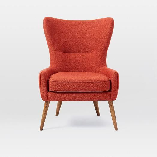 Erik Upholstered Wing Chair In 2020 Wing Chair Red Dining