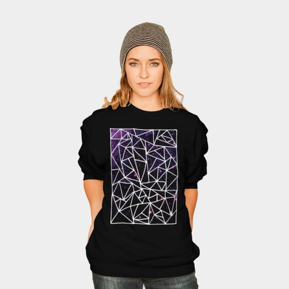 Nostromo Sweater by Fimbis //  Also available as a T Shirt, Phone Case, Tank Top, Crew Neck, Pullover, Zip. //   #fashion #abstract #purple #pink #shapes #magenta #geometric