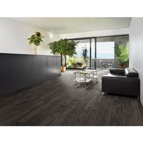 Jet Black Oak Matte Laminate, Matte Black Laminate Flooring