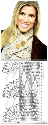 cute scarf with diagram