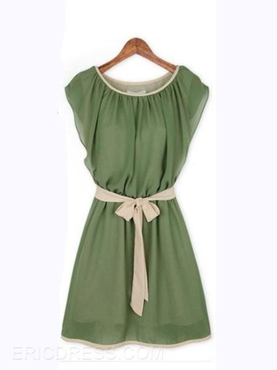 Ericdress Green Casual Dress  Casual Dresses