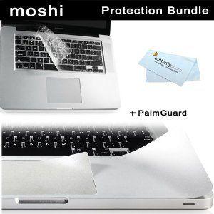 "Moshi Macbook Pro 15"" Protection Kit includes Moshi ClearGuard Keyboard Protector for MacBook 15"" + Moshi PalmGuard for MacBook 15"" Unibody + BONUS ButterflyPhoto Micro Fiber Cleaning Cloth (Electronics) http://www.amazon.com/dp/B007C6W5N0/?tag=wwwtappocityc-20 B007C6W5N0"