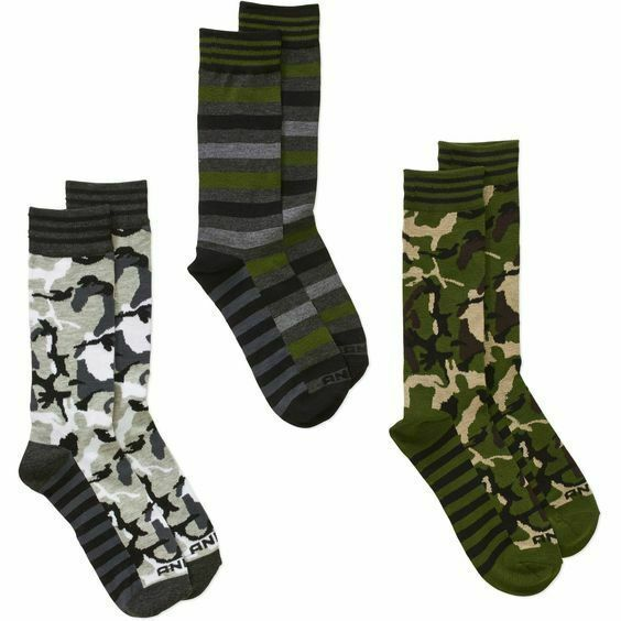 AND1 Courtside Collection Basketball Crew Socks 3 Pack NEW