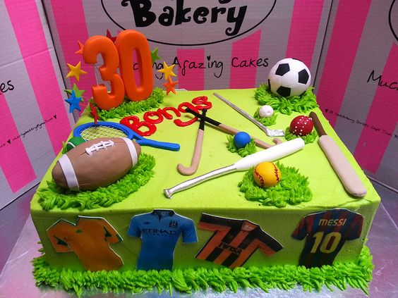 Field Hockey Cake Decorations