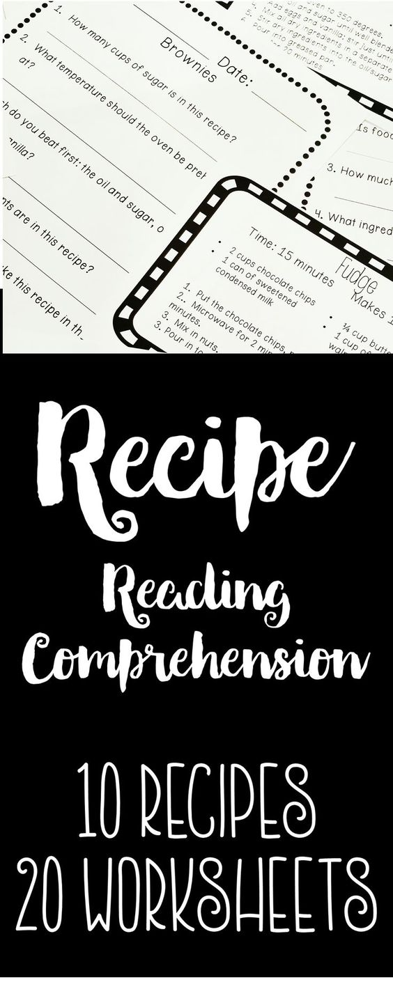 Free Worksheet Functional Reading Worksheets recipe reading comprehension life skills and functional literacy here is a product that contains materials to set up center